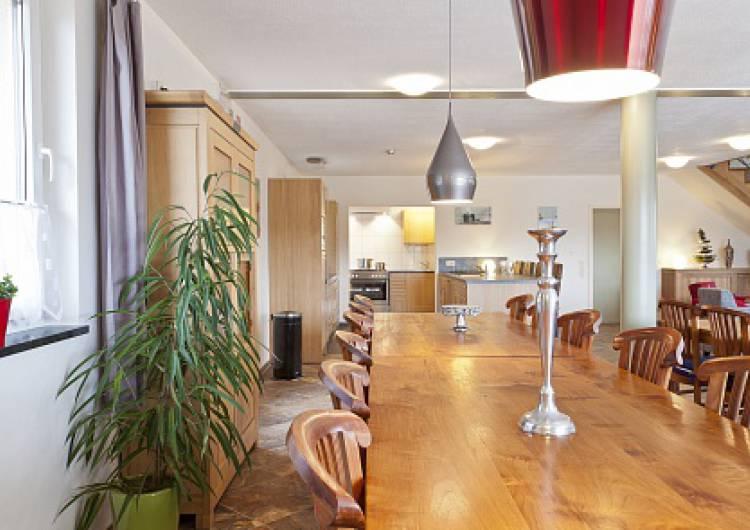 eetgedeelte uitzicht keuken