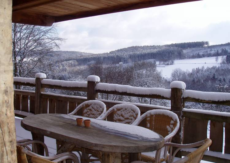 b terrasse hiver chalet